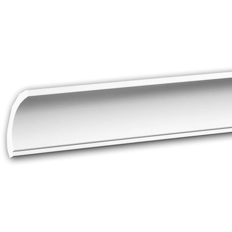 Cornice Moulding 650172 Profhome Decorative Moulding Crown Moulding Coving Cornice contemporary design white 2 m