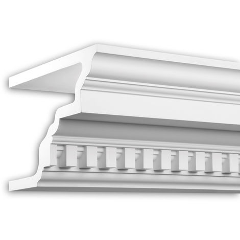 Cornice moulding Profhome 431202 Facade profile Decorative moulding timeless classic design white 2 m