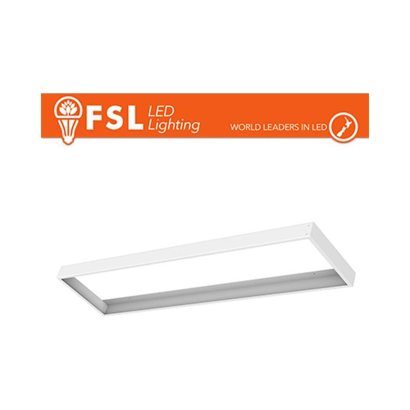 cornice per pannello led egde-lit 120x30 cm bianco lif flsurpp30x120