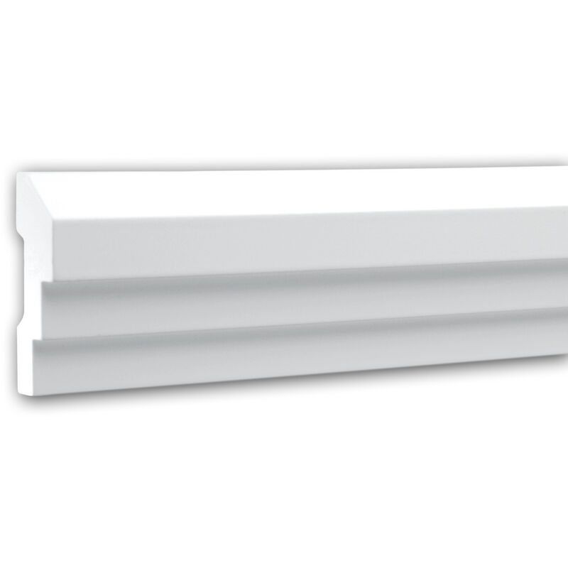 Cornice Parete 151315F Profhome modanatura tipo stucco cornice flessibile modanatura stile neoclassico bianco 2 m - PROFHOME DECOR