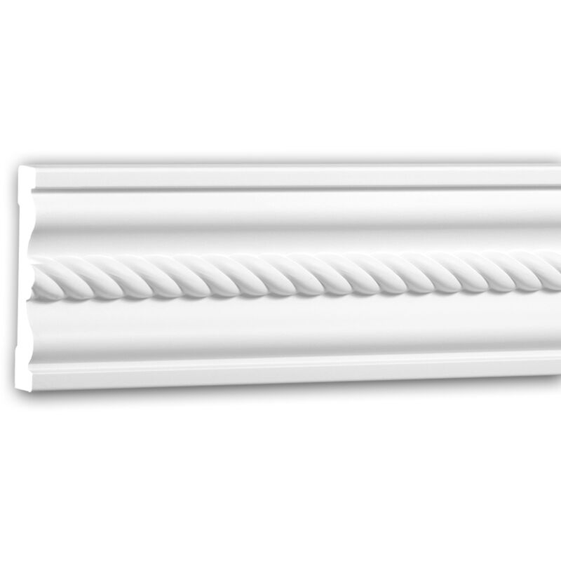Cornice Parete 151373F Profhome modanatura tipo stucco cornice flessibile modanatura stile neoimpero bianco 2 m - PROFHOME DECOR