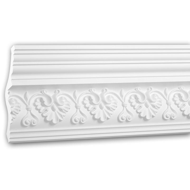 Cornice soffitto parete 150285 Profhome modanatura tipo stucco stile neorinascimentale bianco 2 m - PROFHOME DECOR