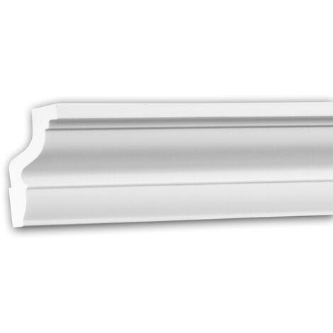 Corniche 150171F Profhome Moulure décorative flexible style Néo-Classicisme blanc 2 m