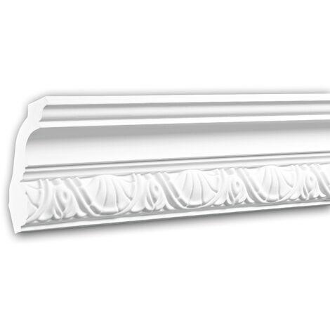 Corniche 150251F Profhome Moulure décorative flexible design intemporel classique blanc 2 m