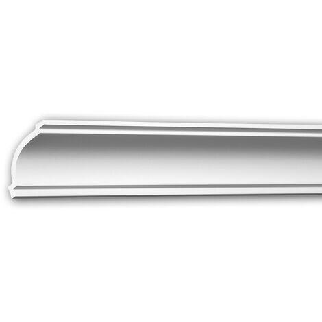 Corniche 650160 Profhome Moulure décorative style Néo-Classicisme blanc 2 m