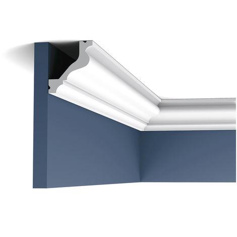 Corniche Moulure Cimaise Orac Decor C200F LUXXUS flexible Décoration de stuc Profil décoratif pour mur et plafond 2 m