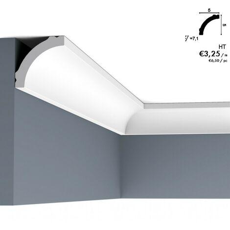 Corniche ORAC CB521 une courbe simple pour le passage du mur au plafond 2 m