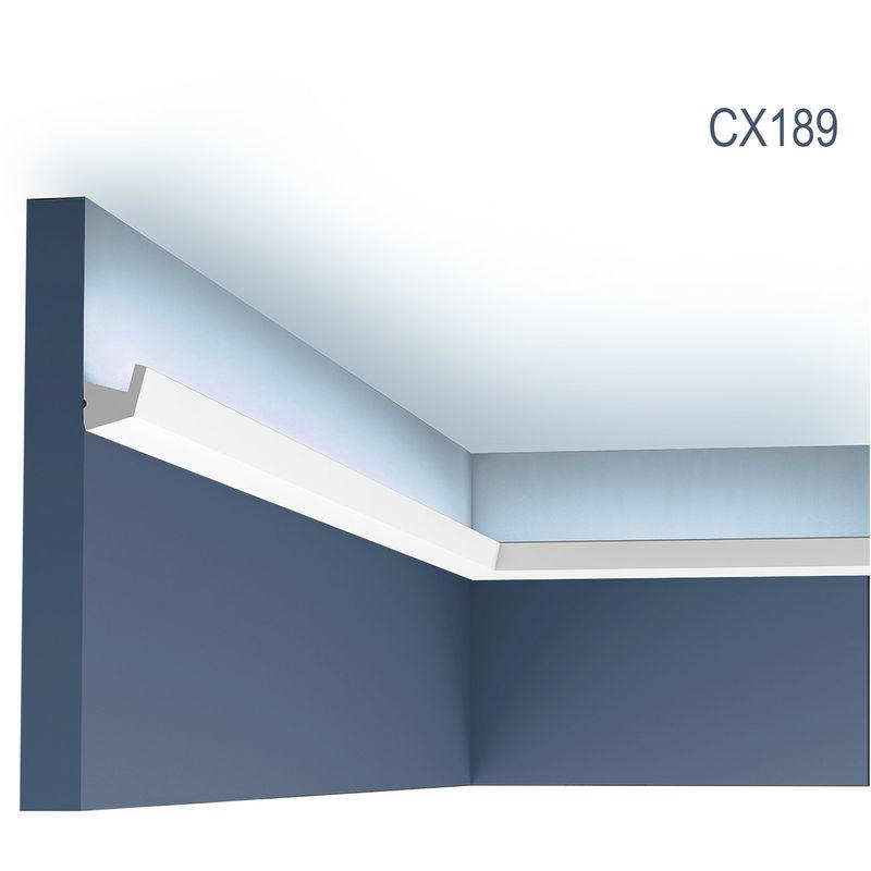Corniche Orac Decor Cx189 Axxent Corniche Eclairage Indirect Moulure Decorative Design Moderne Blanc 2 M