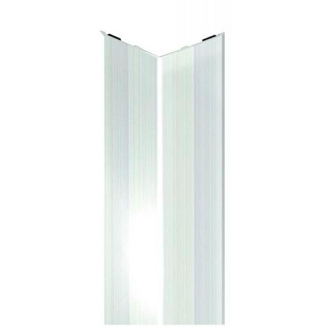 Cornière adhésive de protection d'angle inox satiné 25 x 25 x 3000 mm