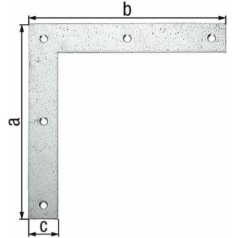 Corniere d'angle 200x200x30 mm laminé zingué