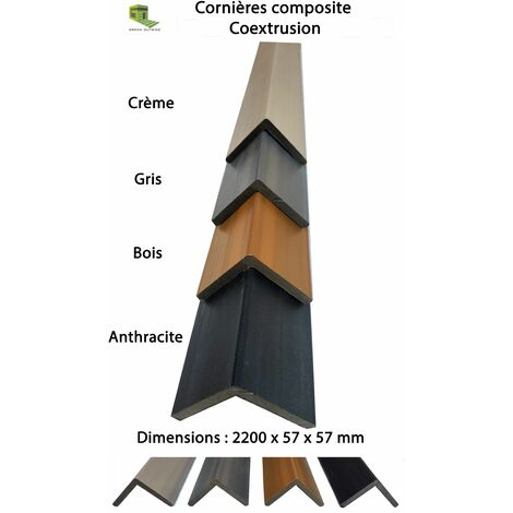 Cornière de finition pour lame coextrusion coloris anthracite