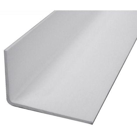 """main image of """"Cornière inégale - profil en L asymétrique PVC longueur 2,6m finition blanc 30 x 70mm"""""""