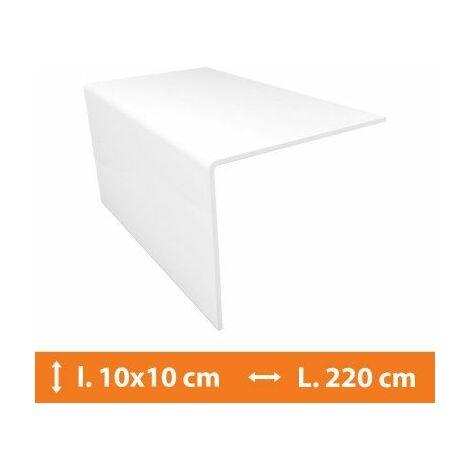 Cornière PVC Blanc - 10 x 10 cm - L.220 cm - Blanc