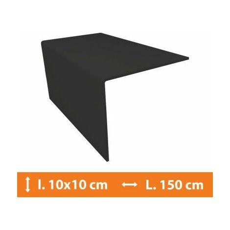Cornière PVC Gris - 10 x 10 cm - L.150cm - Gris