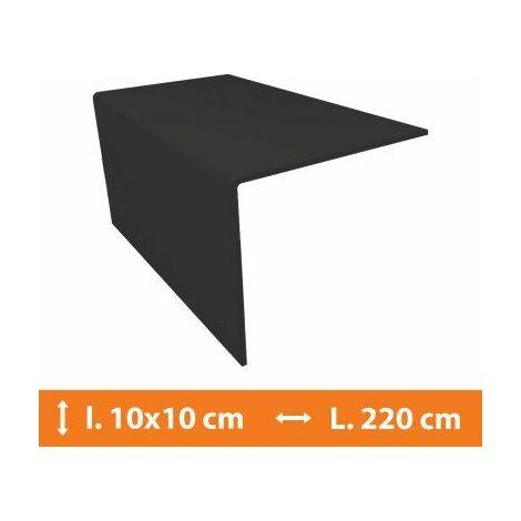 Cornière PVC Gris - 10 x 10 cm - L.220cm - Gris