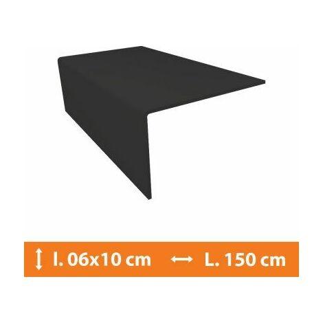 Cornière PVC Gris - 6 x 10 cm - L.150cm - Gris