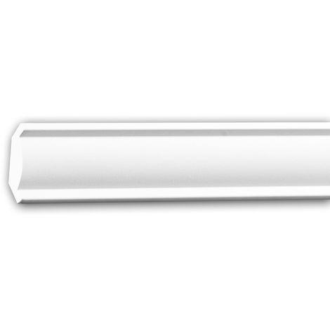 Cornisa 650297 Profhome Perfil de estuco Moldura decorativa estilo Neoclasicismo blanco 2 m