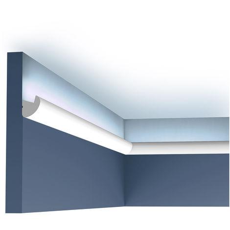 Cornisa Orac Decor CX188 AXXENT Moldura para luz indirecta Perfil de estuco diseño moderno blanco 2 m