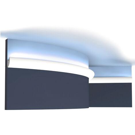 Cornisa Orac Decor CX188F AXXENT Moldura de corona flexible Perfil de estuco diseño moderno blanco 2 m