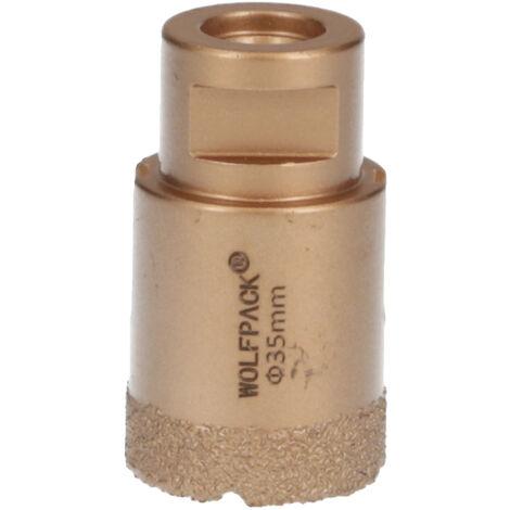 Corona Diamante Para Amoladora Ø 35 mm. Conexión Rosca M14. Corte Seco