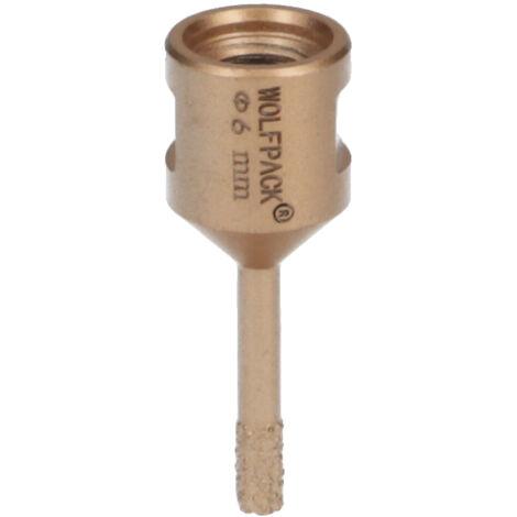 Corona Diamante Para Amoladora Ø 6 mm. Conexión Rosca M14. Corte Seco