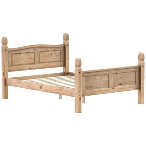 Corona Double Bed, High Foot End