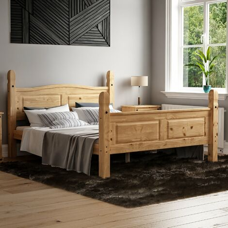 Corona King Size Bed, High Foot End