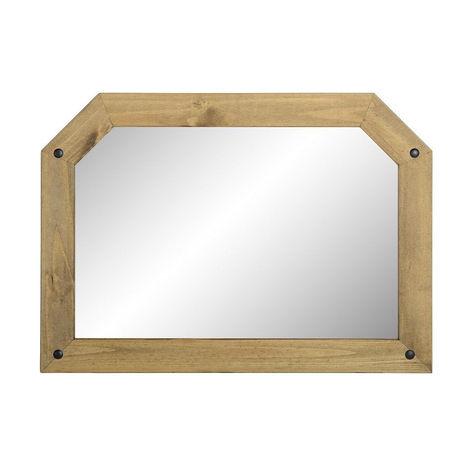 Corona Over Mantle Mirror Distressed Waxed Pine