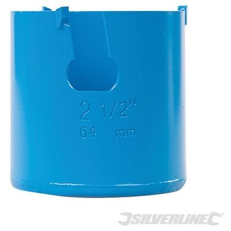 Corona perforadora multimaterial de TCT (64 mm)