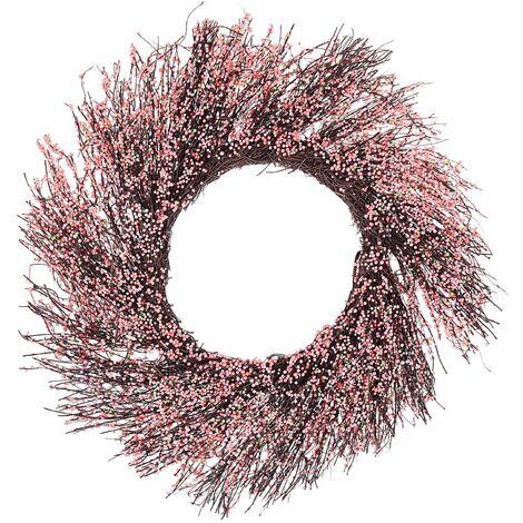 Corona rosa para puerta ø50 cm GALLETAS