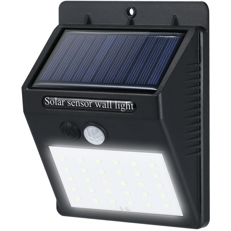 corpo sensore solare giardino luce LED solidalmente parete tre modalita selezionabili di illuminazione della luce di notte 30LED piccolo triangolo D