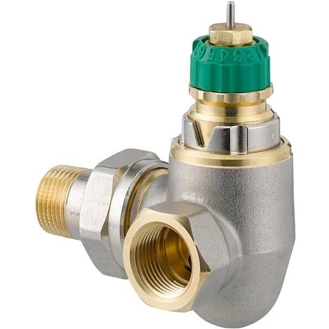 """Corps de robinet radiateur ange à droite 3/8"""" RA-DV 10 Dynamic Valve - Danfoss 013G7717"""