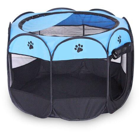 Corralito portatil para mascotas, para gato, perro, malla de PVC, cubierta de sombra