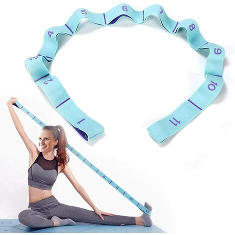 """main image of """"Correa de ejercicio, Bandas elásticas de yoga con 11 anillos, Bandas elásticas de entrenamiento, Banda de resistencia elástica latina para adultos Yoga Pilates Danza Fitness Correa de ejercicio."""""""