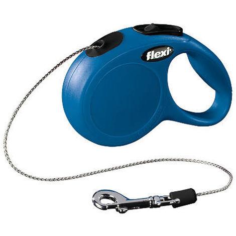Correa extensible Flexi New Classic de cordón M en color azul | Correa de perro hasta 20 kg | Correa de 8 metros