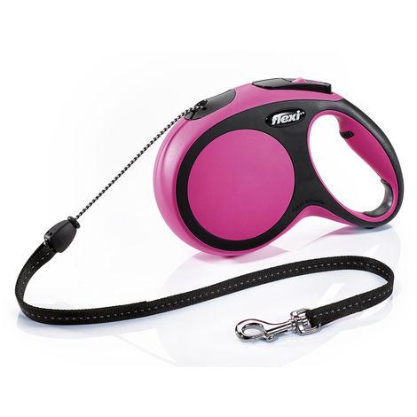 Correa extensible Flexi New Comfort de cinta XS en color rosa   Correa de perro hasta 12 kg   Correa de 3 metros