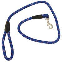 Correa para perros de color azul y rojo resistente medidas 12mm x 1,20m