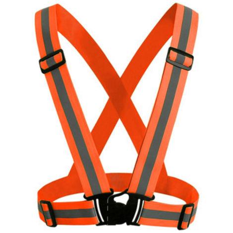 Correa reflectante, ropa reflectante para correr de noche, naranja fluorescente, 1 paquete