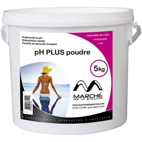 Correcteur de pH piscine pH plus poudre Marchedelapiscine seau 5kg