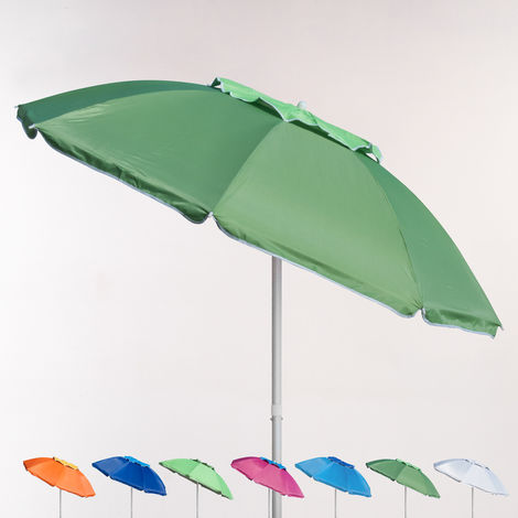 CORSICA 180cm Aluminium Beach Umbrella With Anti-UV Coating