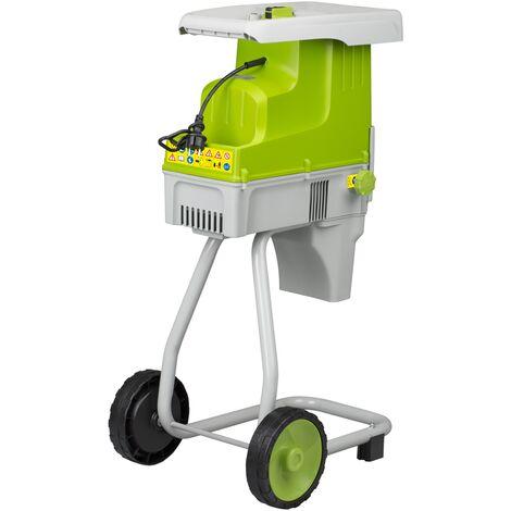 Corta troncos / astilladora eléctrica, Central Park - 2500W - 230V - Fácil de usar - Fácil de mover - Incluye colector - verde / gris