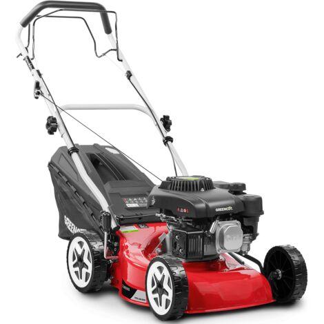 Cortacesped autopropulsado motor gasolina 132cc 4,5cv chasis acero 410mm - GREENCUT