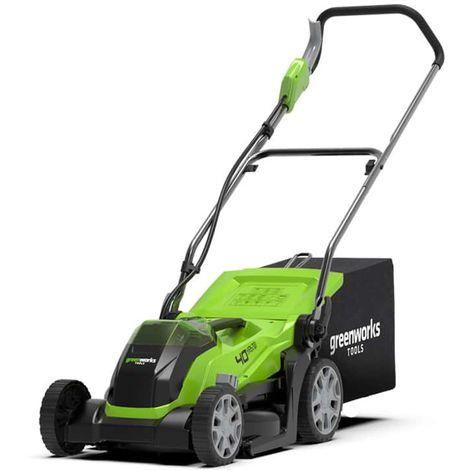 Cortacésped GREENWORKS 40V - Corte de 35cm - Sin batería ni cargador - G40LM35