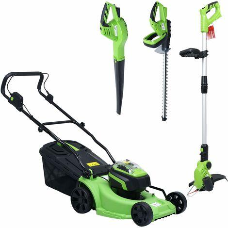 Cortacésped sin cable con set herramientas eléctricas de jardín