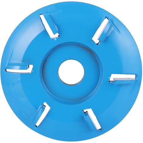 Cortador de fresado de herramienta de disco de tallado en madera de seis dientes, para amoladora de angulo de apertura de 16 mm