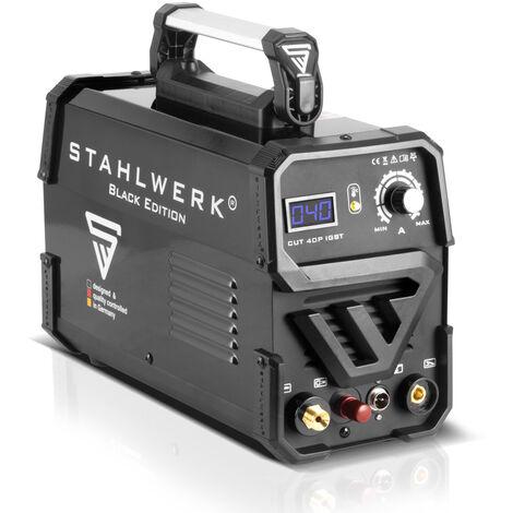 Cortador de plasma CUT 40 P IGBT equipo completo con 40 Amperio y encendido piloto, potencia de corte hasta 10 mm