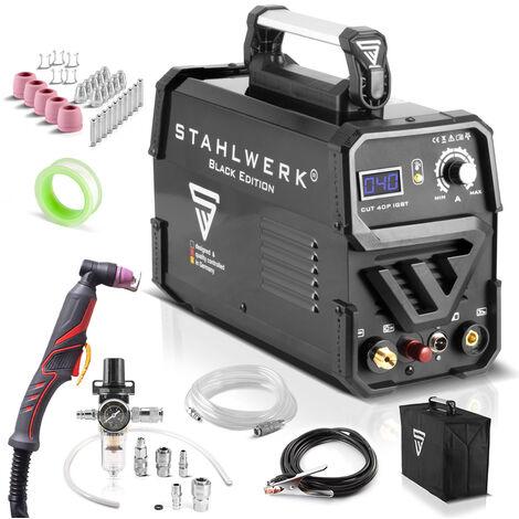 Cortador de plasma CUT 40 P IGBT equipo completo con 40 Amperio y encendido piloto, rendimiento de corte hasta 10 mm