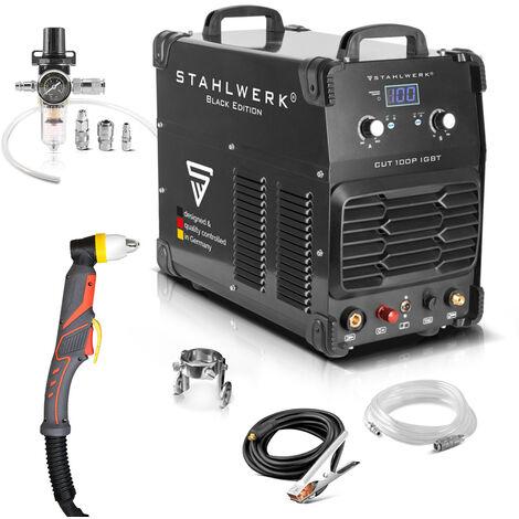 Cortador de plasma STAHLWERK CUT 100 P IGBT, con 100 Amperio, encendido piloto, rendimiento de corte hasta 44 mm, 7 años de garantía*