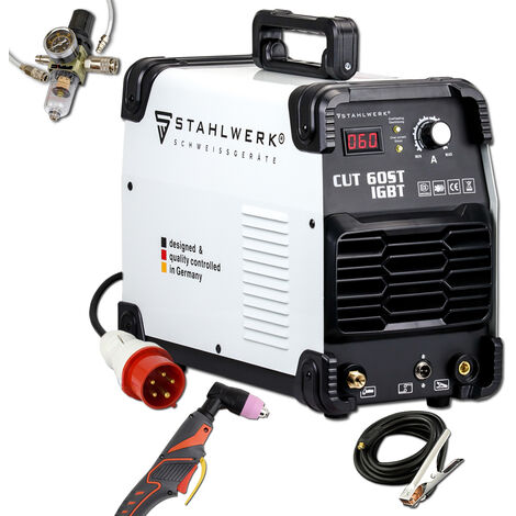 Cortador de plasma STAHLWERK CUT 60 ST IGBT con 60 Amperio, potencia de corta hasta 24mm, 7 años de garantía*