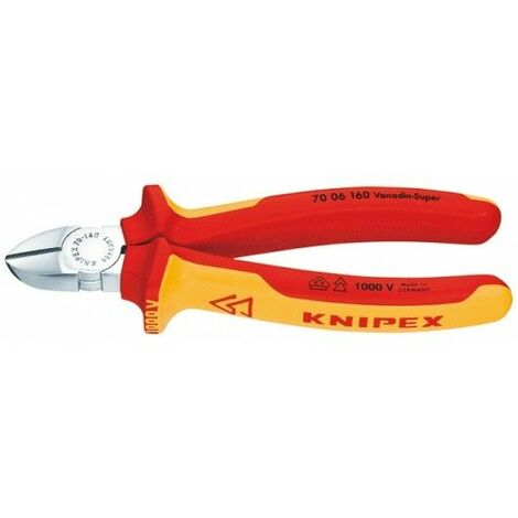 Cortador lateral VDE 140mm m. m. k. Griff Knipex